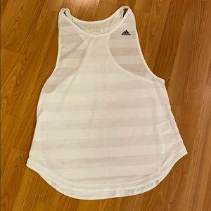 Adidas climalite white tank top, size L